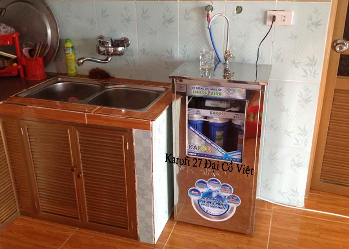 Hình ảnh thực tế máy lọc nước Karofi có tủ